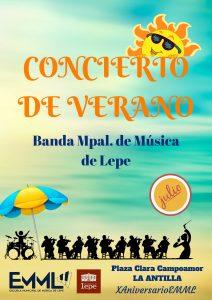 concierto verano antilla playa lepe escuela musica banda municipal ayuntamiento programacion
