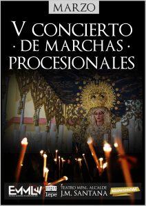 concierto marchas procesionales semana santa cuaresma banda musica lepe escuela teatro