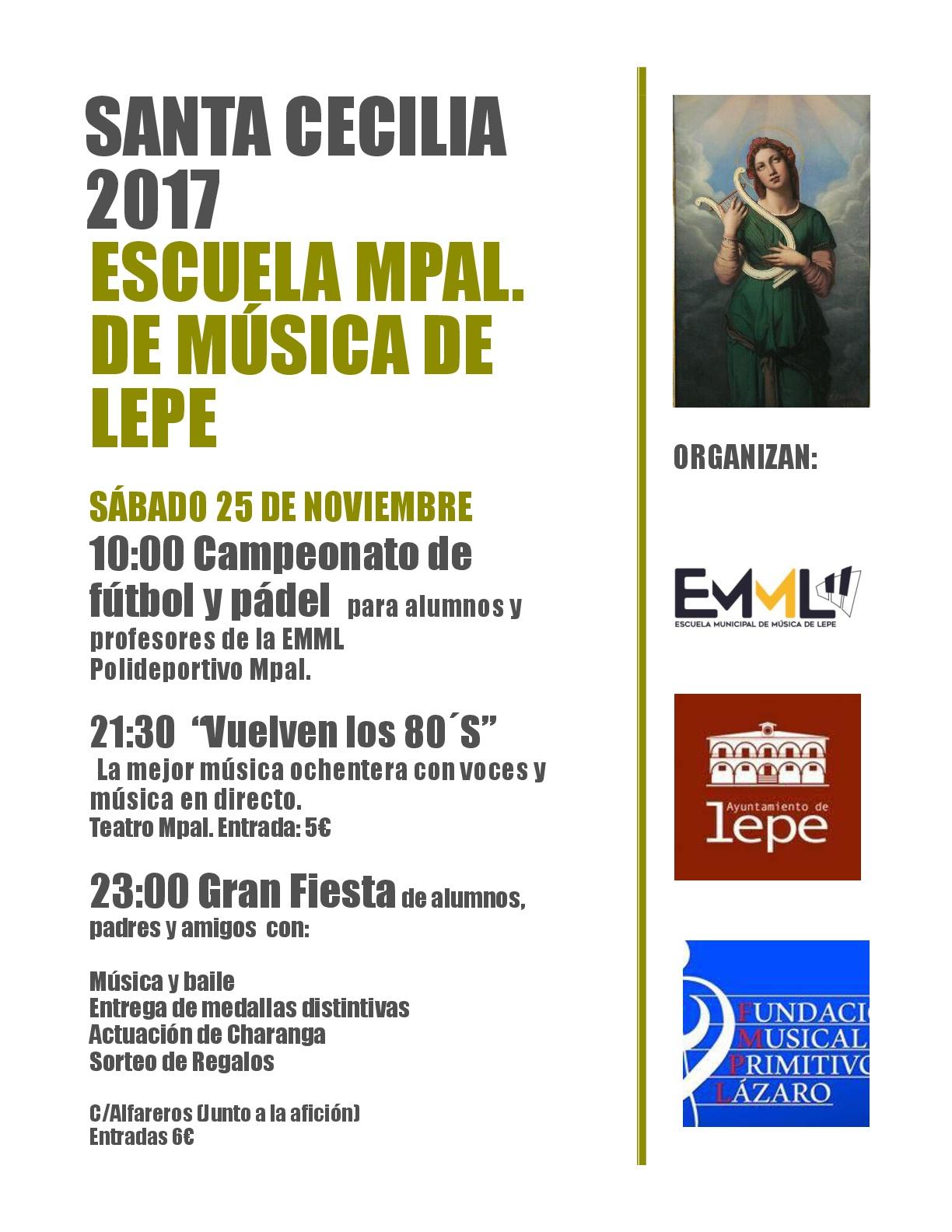 escuela musica lepe santa cecilia 2017